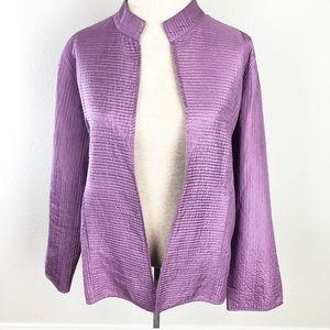 EILEEN FISHER Lilac Purple Texture Cardigan Jacket